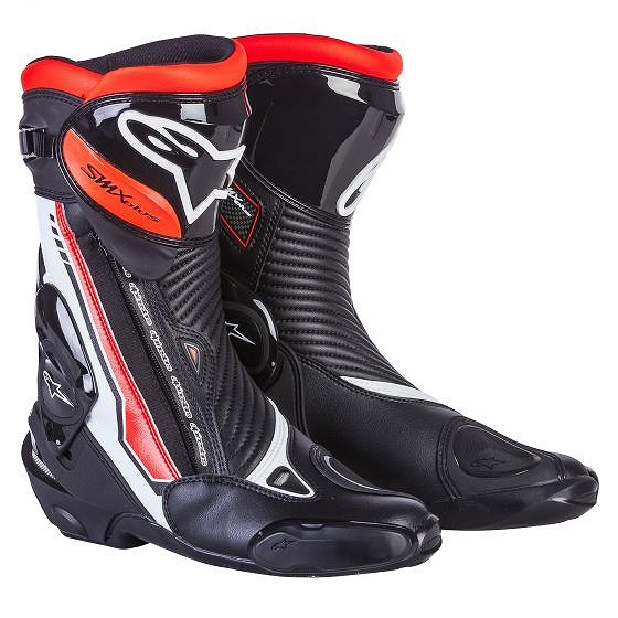 ☆【Alpinestars】S-MX Plusオートバイブーツ White / Black / Red Fluro | UK 7 / Eur 41