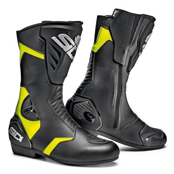 ☆【Sidi】ブラックレインオートバイブーツ Black / Yellow