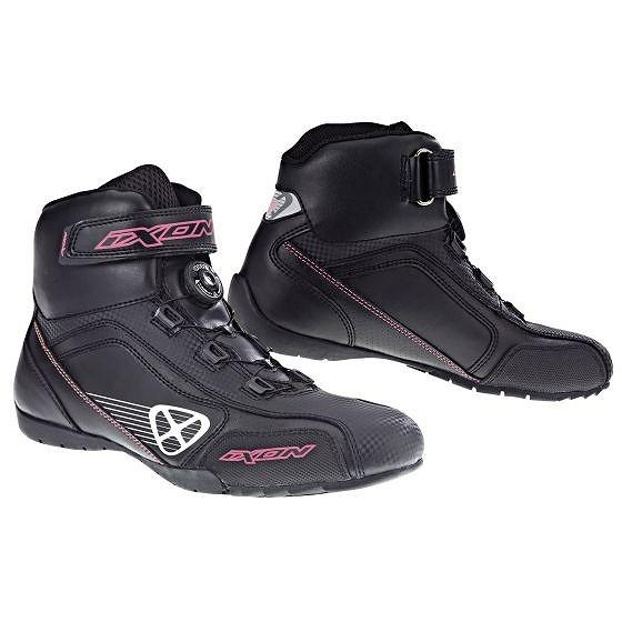 ☆【Ixon】アサルトレディースオートバイブーツ Black / White / Bright Pink   UK 6 / Eur 40
