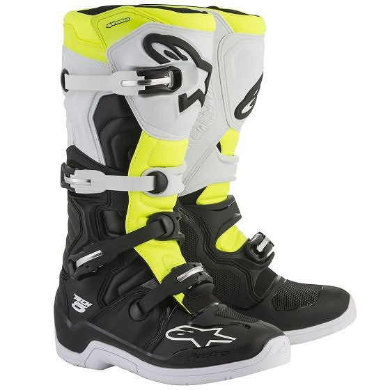 ☆【Alpinestars】Tech 5 Motocross Boot Black / White / Yellow Fluro