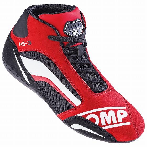 ☆【OMP】KS-3カート ブーツ 子供用 レッド/ブラック/ホワイト