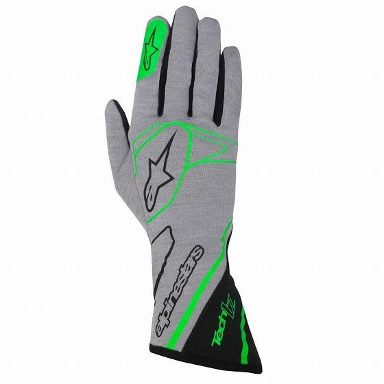 ☆【Alpinestars】Tech 1-Zレーシンググローブ グレー/グリーン/ブラック