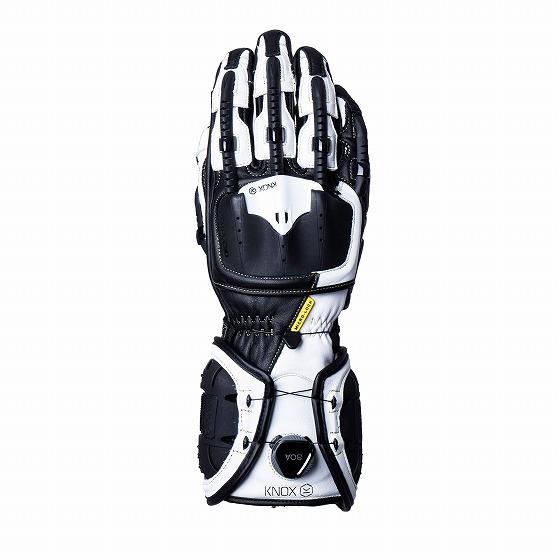 ☆【Knox】Handroid MK IV(MK4)レザーオートバイグローブ ブラック×ホワイト