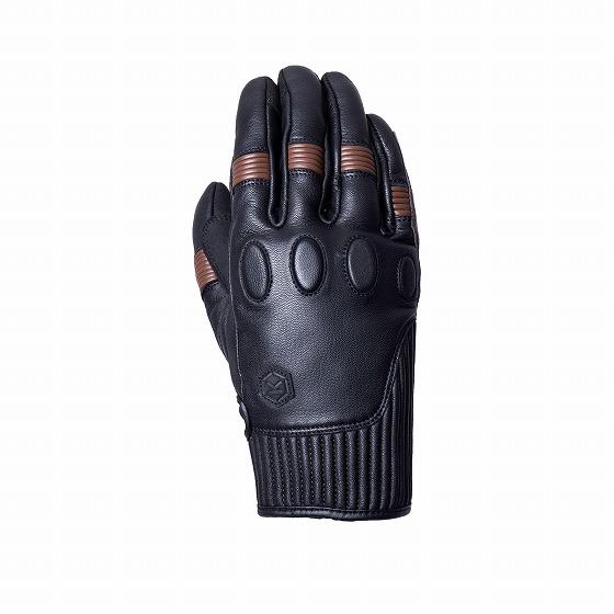 ☆【Knox】Hanbury MK II(MK2)レザーオートバイグローブ ブラック×ブラウン