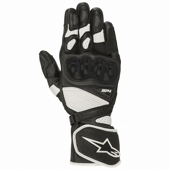 ☆【Alpinestars】SP-1 V2レザーオートバイグローブ ブラック×ホワイト