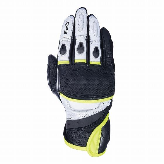 ☆【Oxford】RP-3 2.0スポーツバイクグローブ ブラック/ホワイト/フルロ