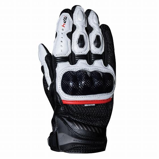 ☆【Oxford】RP-4 2.0スポーツバイクグローブ ブラック/ホワイト