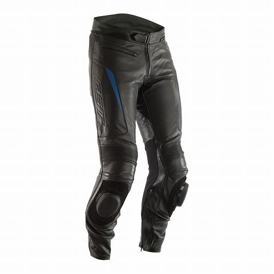 ☆【RST】GTレザーオートバイパンツ ブラック/ブルー