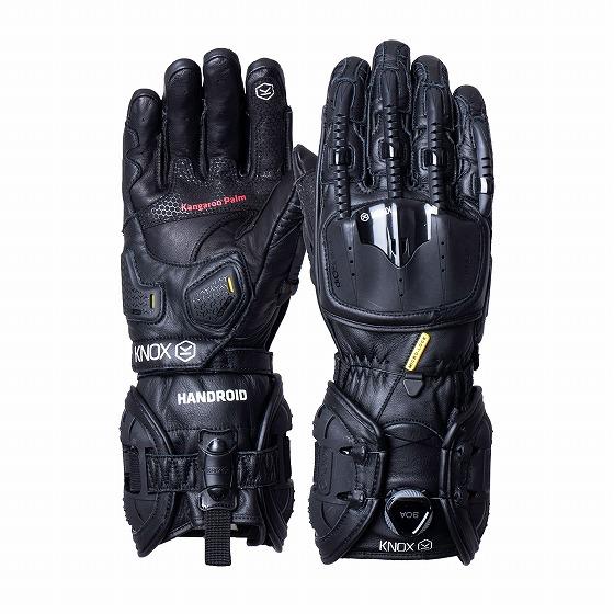 ☆【Knox】Handroid MK IV(MK4)レザーオートバイグローブ ブラック