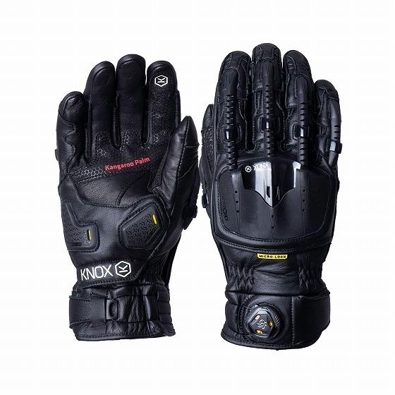 ☆【Knox】Handroid Pod MK IV(MK4)レザーオートバイグローブ ブラック