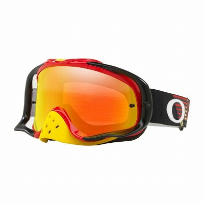 ☆【Oakley】クローバーMXゴーグル Red and Yellow Frame/Fire Iridium Lens