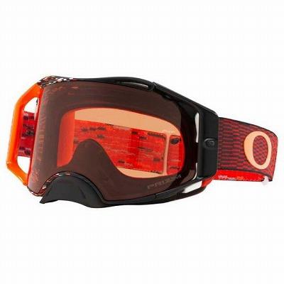 ☆【Oakley】エアブレーキMXゴーグル Equalizer Red and Orange Frame/Prizm Bronze Lens