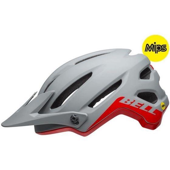 ☆【Bell】4Forty MIPS MTBヘルメット Cliffhanger Matte / Gloss Grey / Crimson | M (55-59cm)