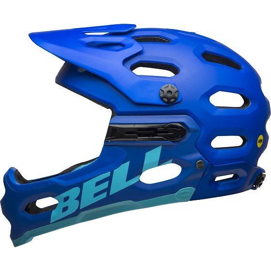 ☆【Bell】Super 3R MIPS MTBヘルメット Bright Blue / Black | L (58-62cm)