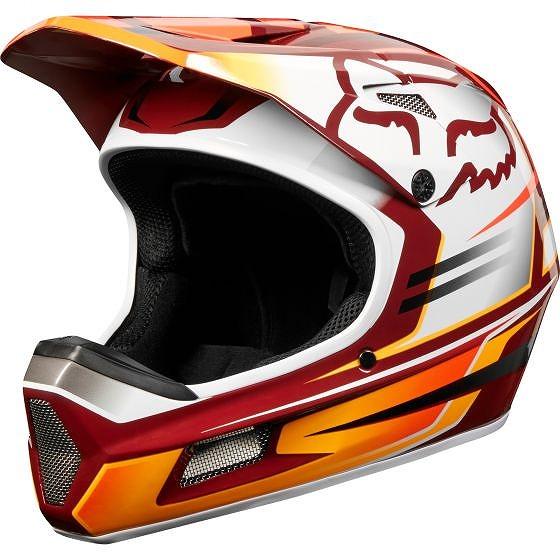 ☆【Fox Clothing】Rampage Compヘルメット Reno Cardinal | L