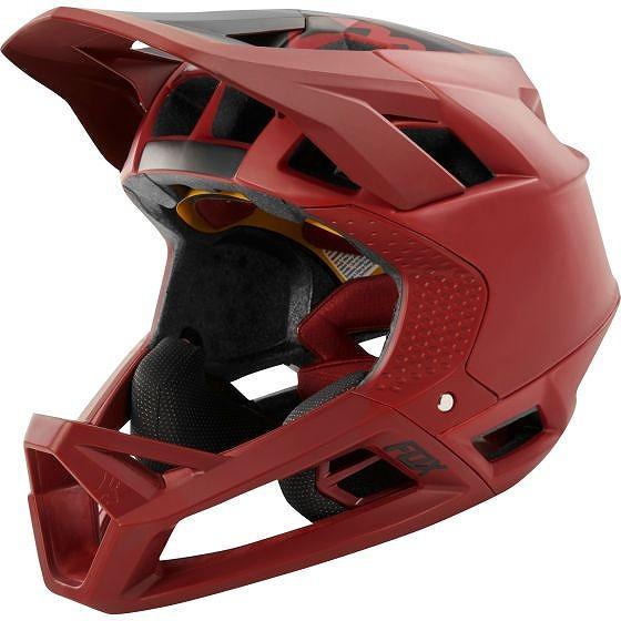 ☆【Fox Clothing】プロフレームヘルメット Matte Cardinal | S