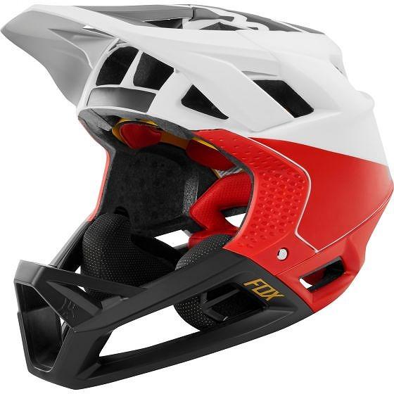 ☆【Fox Clothing】プロフレームヘルメット Pistol White / Black / Red   S