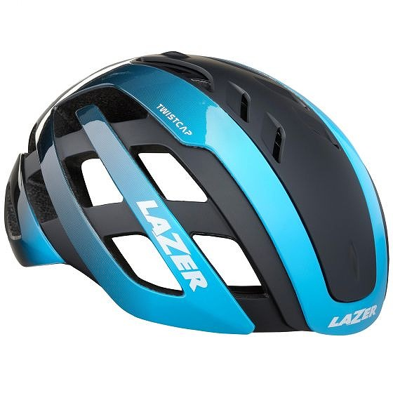 ☆【Lazer】世紀のヘルメット Matt 黒 / 青 | L
