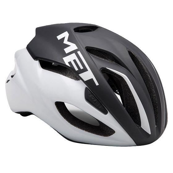☆【MET】Rivale Roadヘルメット Black / White | M
