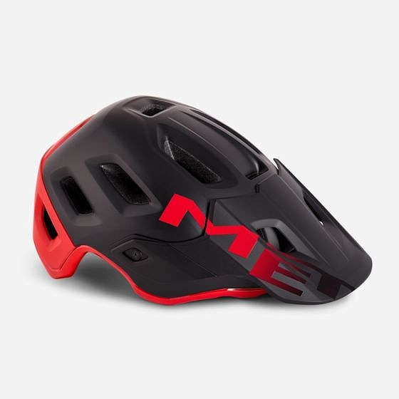 ☆【MET】ロームヘルメット Black / Red | M