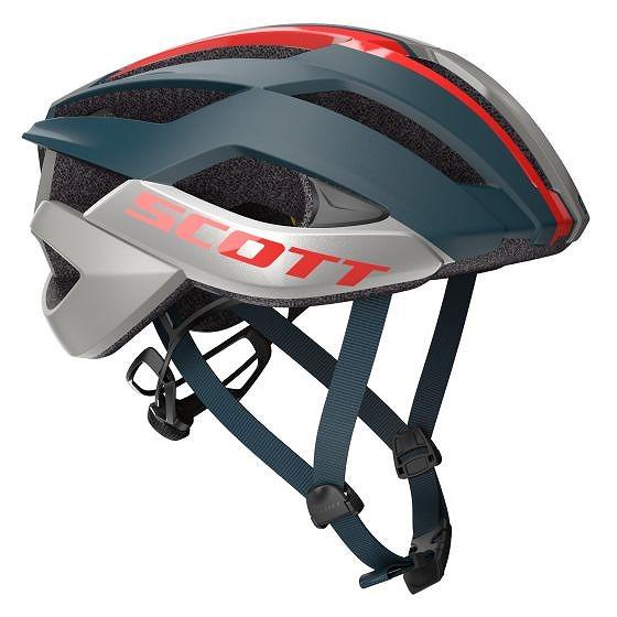 ☆【Scott】Arx Plus MIPSロードヘルメット Nightfall Blue / Red | M