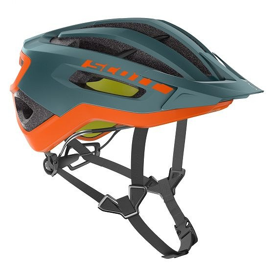 ☆【Scott】Fuga Plus Rev MIPSヘルメット Cobalt Green / Orange | L