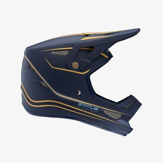 ☆【100%】ステータスフルフェイスヘルメット LTD Navy   XL