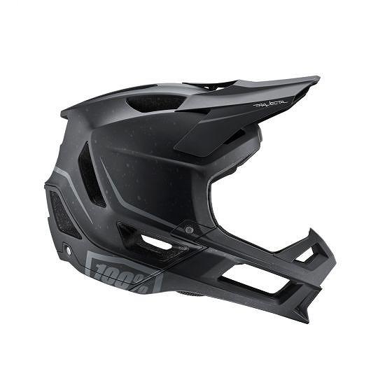 ☆【100%】トラジェクタフルフェイスヘルメット 黒 | L
