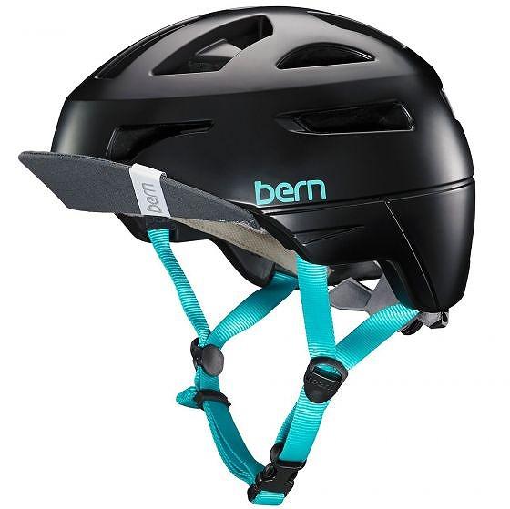 ☆【Bern】パーカーレディースヘルメット Satin Black   L