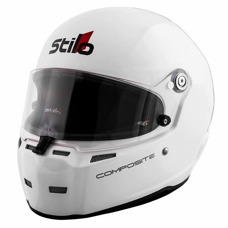 ☆【Stilo】(スティーロ)ST5F Nコンポジットヘルメットホワイト HANS CLIP 無し 54cm~63cm