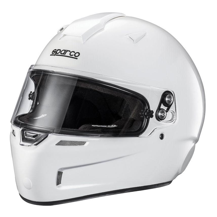 ☆【Sparco】スカイKF-5W カート ヘルメット - ホワイト サイズ XS(53-54cm)~XXL(62cm)