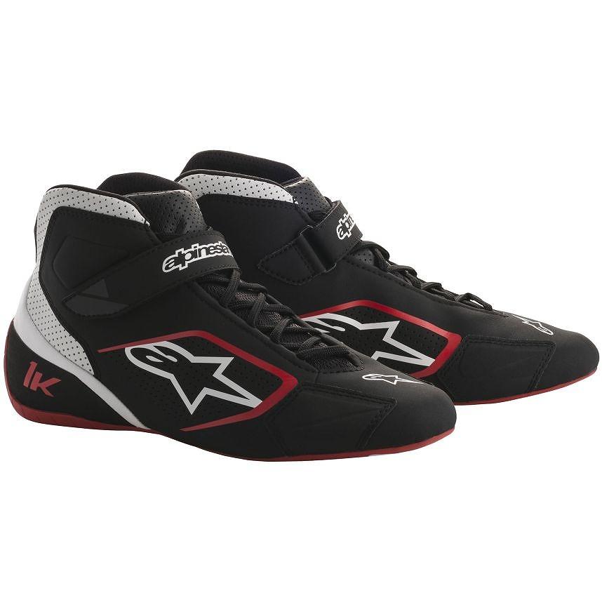 ☆【Alpinestars】Tech 1-K カート ブーツ ブラック/ホワイト/レッド