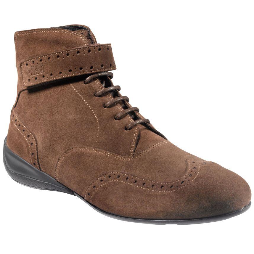 ☆【Piloti】ピロティ カンピオーネ ハイカット シューズ サイズ UK 7.5/ Eur 41.5~UK 10.5 /Eur 45 ブラウン スエード レザー 本革靴 Campione High Shoes