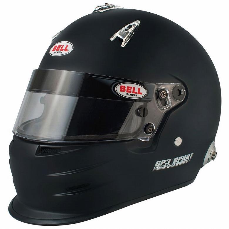 ☆【Bell】GP3スポーツヘルメット - マットブラック サイズ XL(61-62cm)HANS CLIP 付き