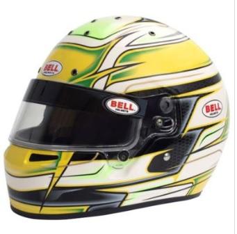 ☆【Bell】KC7-CMR カート ヘルメット - Venom Yellow サイズ 54cm
