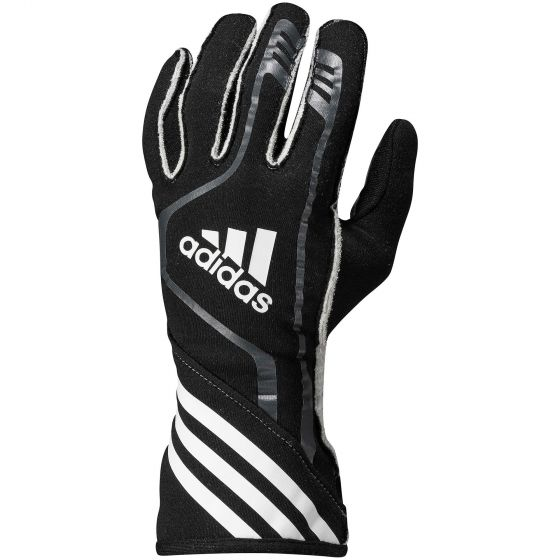 【Adidas】 RSR Race レース グローブ Gloves(FIA 8856-2000公認)ブラック×ブラック光沢×ホワイト
