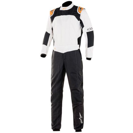 4輪 レーシングスーツ ☆NEWモデル☆ Alpinestars アルパインスターズ 低廉 GP TechV3レーススーツ Black Fluro Orange 出荷 White