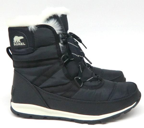 SOREL(ソレル) レディースウィンターブーツ Whitney Short Lace(ウィットニーショートレース) NL2776 010:Black【smtb-TK】