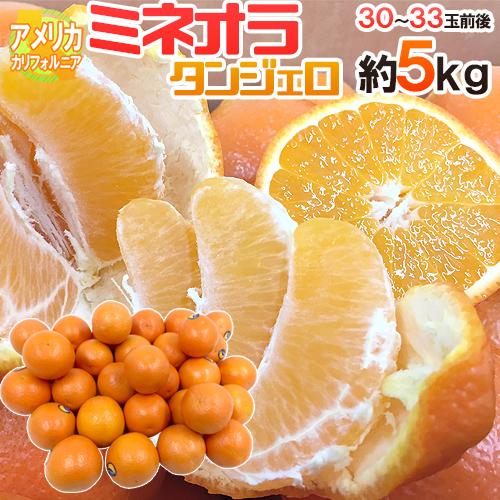 """【送料無料】""""ミネオラオレンジ"""" 30~33玉前後 約5kg カリフォルニア産 ミネオラタンジェロ【予約 3月以降】"""