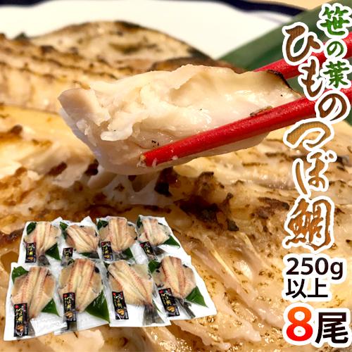 """【送料無料】""""笹の葉ひもの つぼ鯛"""" 約250~350g×8尾 つぼ鯛の干物"""
