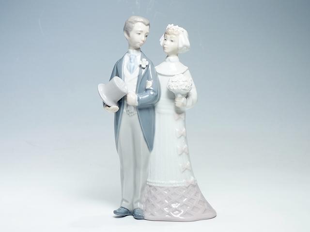 ladro リヤドロ/リアドロ 4808 ウエディング 20cm インテリア 人形 フィギュリン 置物 結婚式 夫婦【中古】