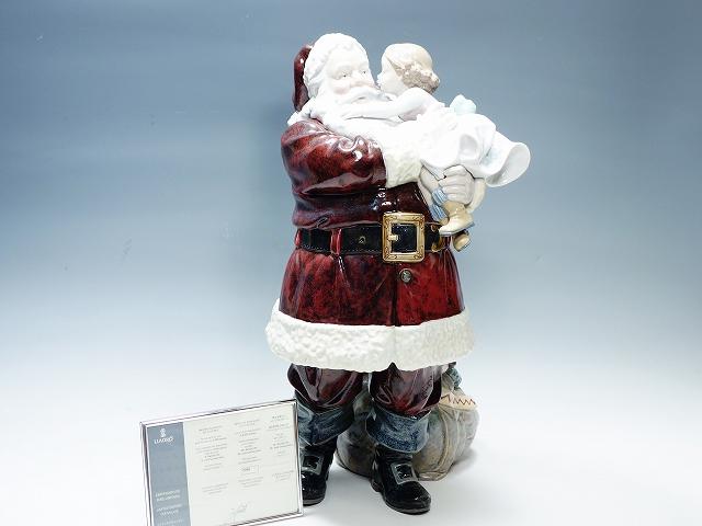 Lladro リヤドロ/リアドロ 1960 幸せを届けに 2,000体限定 52cm クリスマス サンタクロース フィギュリン 置物 インテリア【中古】