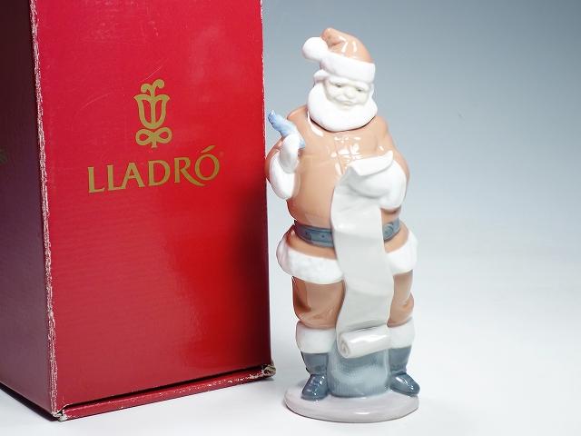 Lladro リヤドロ/リアドロ 6657 プレゼントのリスト 21cm クリスマス サンタクロース インテリア 陶器人形 置物 フィギュリン【中古】