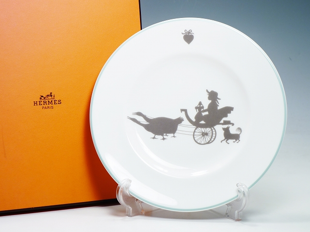HERMES エルメス SILHOUETTES シルエット プレート 20.5cm デザート 中皿【中古】
