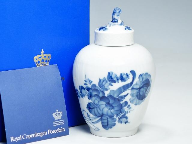 Royal Copemhagen ロイヤルコペンハーゲン ブルーフラワー ティーキャニスター 茶葉ポット 高さ22cm【中古】