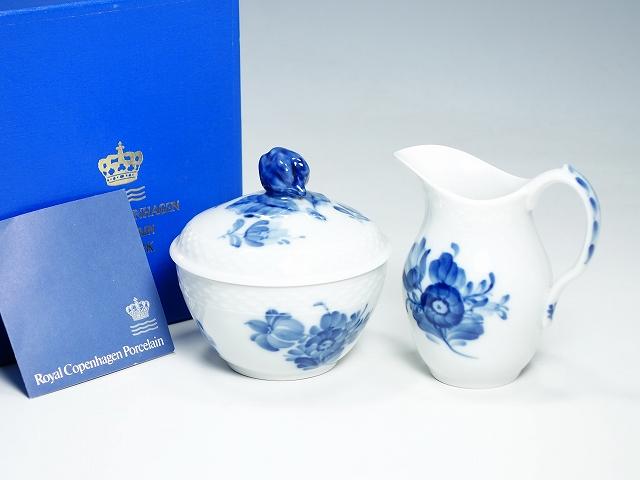 Royal Copemhagen ロイヤルコペンハーゲン ブルーフラワー クリーマー シュガーポットセット ミルク入れ 砂糖入れ【中古】
