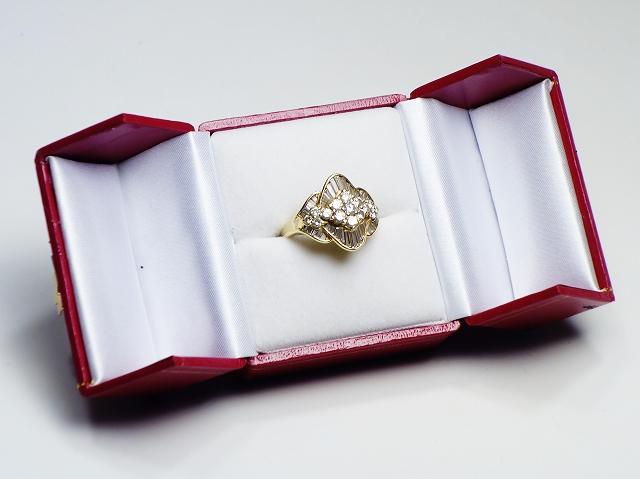 ゴールド K18 ダイヤモンド D1.85 リング 指輪 #14 アクセサリー ジュエリー【中古】
