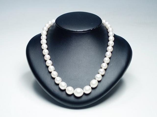 【南洋パール セミバロック ネックレス 】(真珠 アクセサリー ジュエリー 9.5~14.0m/m) 【中古】