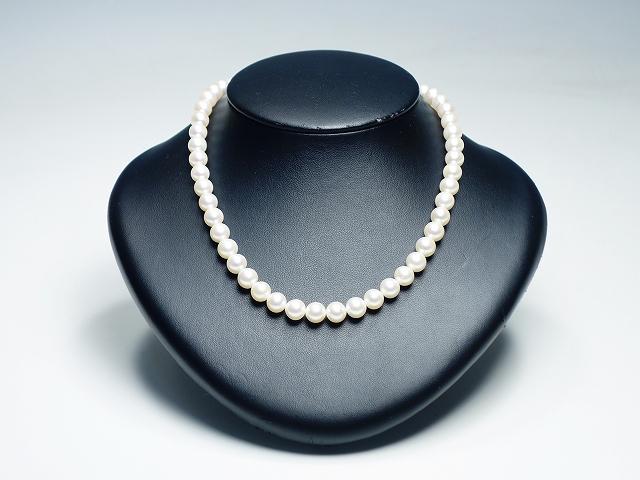 【 本真珠 ネックレス】(レディース パール 8.0m/m アクセサリー ジュエリー 結婚式 冠婚葬祭)【中古】