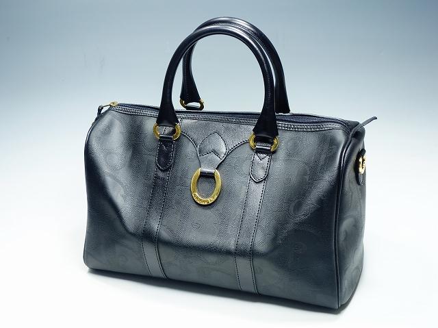 【ディオール ロゴ ボストンバッグ】(Christian Dior クリスチャン・ディオール ブラック 旅行かばん)【中古】